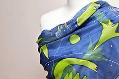 Šatky - SINA - maľovaná hodvábna šatka. - 9403906_