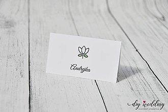 Papiernictvo - Svadobná menovka Tulip - 9402451_