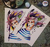 Grafika - Námorníčka/ print - 9403035_