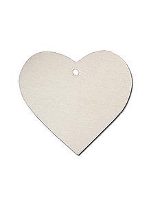 Polotovary - Drevený výrez, srdce,  20 cm - 9402046_