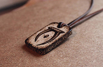Šperky - Drevený prívesok - Elder scrolls - 9402340_