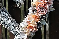 Dekorácie - Svadobné srdce - 9401696_
