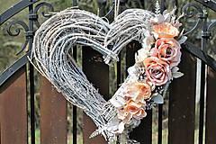Dekorácie - Svadobné srdce - 9401698_