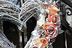 Dekorácie - Svadobné srdce - 9401700_