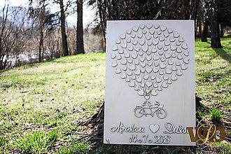 Obrazy - Svadobný bike 100 ľudí - 9402807_