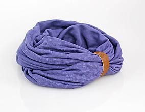 Šály - Ľanový nákrčník z exkluzívnej francúzskej pleteniny