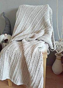 Úžitkový textil - Háčkovaná DEKA Nordic Day latté - 9401442_