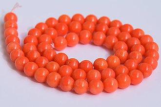 Minerály - NAT6784, (Koral oranžový/6mm /1ks) - 9401507_