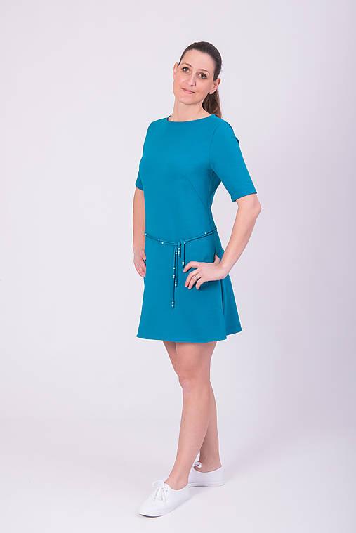 703c0aac33 Petrolejové šaty   miracles.style - SAShE.sk - Handmade Šaty