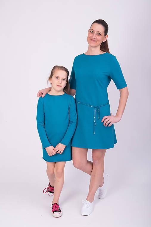 02a0aa1de923 Setík - petrolejové šaty   miracles.style - SAShE.sk - Handmade Šaty