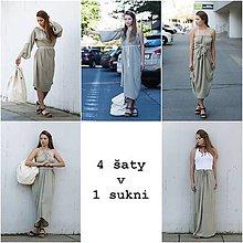 Šaty - Šedozelené 4 šaty v 1 sukni - 9403111_