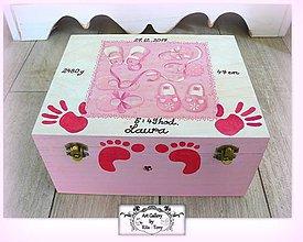 Krabičky - Krabica s údajmi o narodení dieťatka