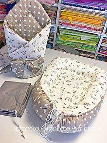 Textil - SET do postieľky /mantinel, hniezdo, zavinovačka,obal na hniezdo/ - 9402745_