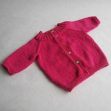 Detské oblečenie - Svetrík s 3/4 rukávmi, 100% merino extra fine - 9401323_
