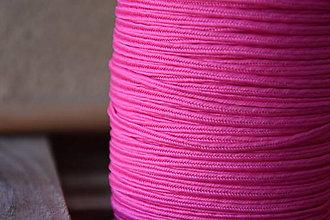 Galantéria - Šujtášová šnúrka USA luxury neon pink, 2.5mm, 0,50€/meter - 9401720_