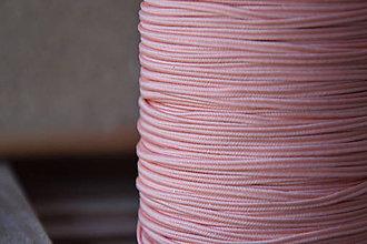 Galantéria - Šujtášová šnúrka USA luxury pastel peach, 2.5mm, 0.50€/meter - 9401747_
