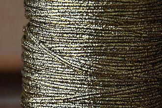 Galantéria - Šujtášová šnúrka USA luxury metallic gold/black, 2.5mm, 0.70€/meter - 9401877_