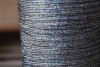 Galantéria - Šujtášová šnúrka USA luxury metallic silver/black, 2.5mm, 0,70€/meter - 9401903_