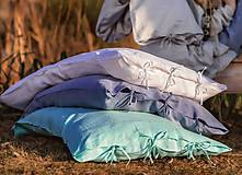 Úžitkový textil - Obliečka na vankúš Beauty in Simplicity (spring collection) (70x90 cm - Tyrkysová) - 9403941_