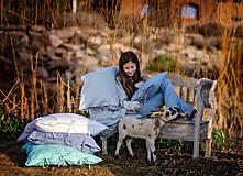 Úžitkový textil - Obliečka na vankúš Beauty in Simplicity (spring collection) (70x90 cm - Tyrkysová) - 9403945_