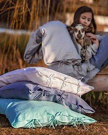 Úžitkový textil - Obliečka na vankúš Beauty in Simplicity (spring collection) (50x50 cm - Modrá) - 9403940_