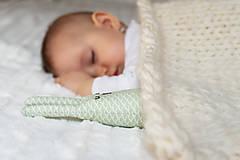 Úžitkový textil - Pletená vlnená deka - prírodná - 9406020_
