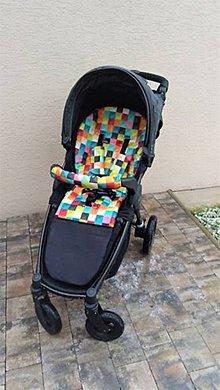 Textil - Podložka do kočíka Britax Plus s čiernym nepremokavým spodným dielom - 9407757_