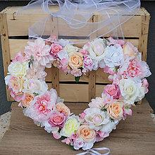 Dekorácie - Svadobné srdce na auto alebo za mladomanželov - 9407393_