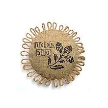 Odznaky/Brošne - Bio brošňa 100% BIO - 9407244_
