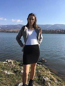 Sukne - Návod na stretchovú bezošvú sukňu - 9405097_