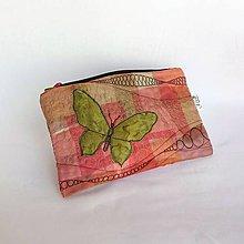 Taštičky - taštička kolážová s leskom organzy No. 8 - 9406961_