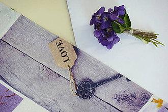Úžitkový textil - Štóla Fialová jar - 9405708_