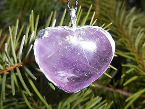 Náhrdelníky - violet ametyst heart II-náramok v cene!! - 9407768_