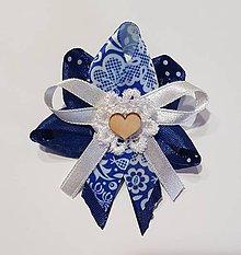 Pierka - ľudové, folklórne pierko modré pre rodičov, svedkov - 9406895_