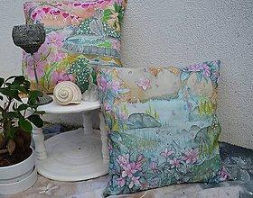 Úžitkový textil - Malé zenové záhradky- hodvábny vankúš - 9408054_