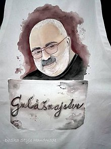 Nezaradené - Pre kuchára maľovaná zástera - 9407155_