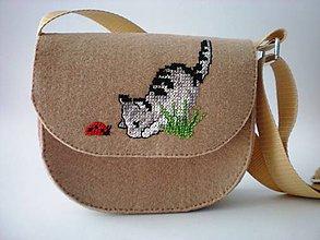 Detské tašky - Moja prvá kabelka (Zvedavá mačička) - 9404912_