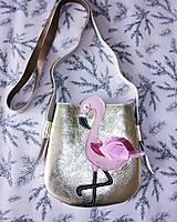 Detské tašky - Plameniak zlatý - 9407825_