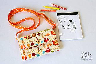 Detské tašky - Detská kabelka - pastelkovníčka Zvieratká (vrátane vnútorného vybavenia) - 9407416_