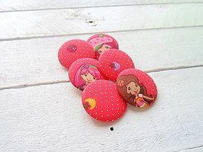 Materiál ručne robený - buttonky,gombíky-slečna jahôdková - 9405299_