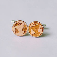 Šperky - zemegule - manžetové gombíky - 9407131_