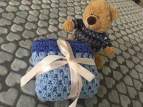 Textil - Deka do kočíka (modrá) - 9404765_