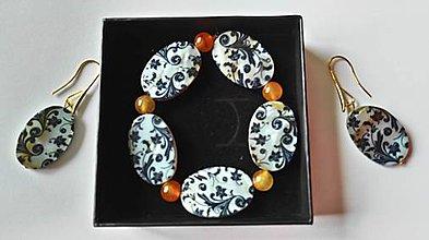 Sady šperkov - náramok a náušnice z perlete - 9406562_