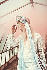 Ozdoby do vlasov - Nežná, romantická parta s čipkami - 9407893_