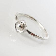 Prstene - Spolu_Kvitnú sakury / strieborné prstienky (Jeden kvet) - 9404694_