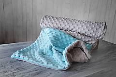 Textil - Minky deka celoročná 100x75cm dvojfarebná - 9404876_