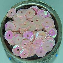 Iný materiál - Flitre lomené svetlo ružové AB 7mm - 9408141_