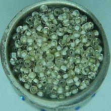 Korálky - Rokajl okrúhly 2mm s prieťahom (kryštál biely prieťah) - 9408189_