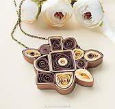 Náhrdelníky - Hnedý náhrdelník - 9406843_