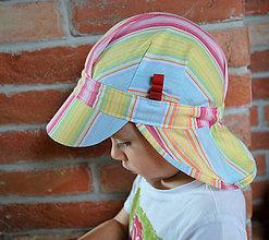 Detské čiapky - ŠILTOFKA s plachtičkou - na objednávku - 9404872_